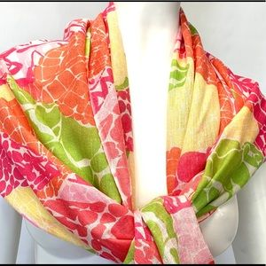 Lily Pulitzer Murphy Scarf Ginger Orange